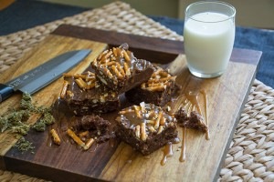 chocolate-pretzel-brownies